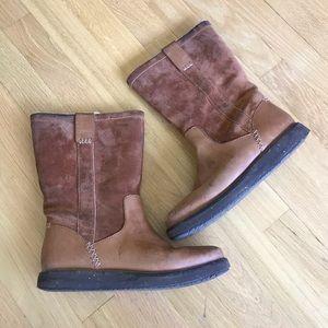 Clarks winter rain boots leather